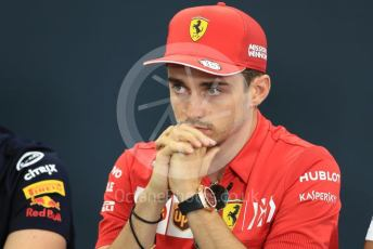 World © Octane Photographic Ltd. Formula 1 – Singapore GP. FIA Drivers Press Conference. Scuderia Ferrari – Charles Leclerc. Suzuka Circuit, Suzuka, Japan. Thursday 10th October 2019.