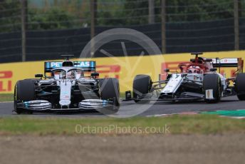 World © Octane Photographic Ltd. Formula 1 – Japanese GP - Practice 1. Mercedes AMG Petronas Motorsport AMG F1 W10 EQ Power+ - Lewis Hamilton and Alfa Romeo Racing C38 – Kimi Raikkonen. Suzuka Circuit, Suzuka, Japan. Friday 11th October 2019.