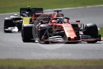 World © Octane Photographic Ltd. Formula 1 – Japanese GP - Qualifying. Scuderia Ferrari SF90 – Sebastian Vettel and Renault Sport F1 Team RS19 – Nico Hulkenberg. Suzuka Circuit, Suzuka, Japan. Sunday 13th October 2019.