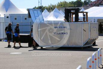 World © Octane Photographic Ltd. Formula 1 – Japanese GP - Qualifying. ROKiT Williams Racing FW 42 spares container being opened. Suzuka Circuit, Suzuka, Japan. Sunday 13th October 2019.