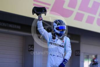 World © Octane Photographic Ltd. Formula 1 – Japanese GP - Parc Ferme. Mercedes AMG Petronas Motorsport AMG F1 W10 EQ Power+ - Valtteri Bottas. Suzuka Circuit, Suzuka, Japan. Sunday 13th October 2019.