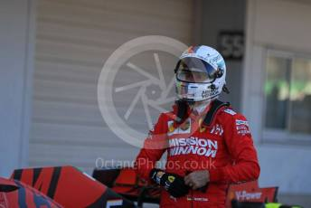 World © Octane Photographic Ltd. Formula 1 – Japanese GP - Parc Ferme. Scuderia Ferrari SF90 – Sebastian Vettel. Suzuka Circuit, Suzuka, Japan. Sunday 13th October 2019.