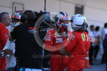 World © Octane Photographic Ltd. Formula 1 – Japanese GP - Parc Ferme. Scuderia Ferrari SF90 – Sebastian Vettel and Charles Leclerc. Suzuka Circuit, Suzuka, Japan. Sunday 13th October 2019.