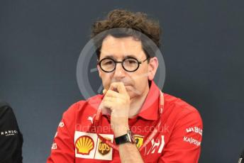 World © Octane Photographic Ltd. Formula 1 - Hungarian GP – Friday FIA Team Press Conference. Mattia Binotto – Team Principal of Scuderia Ferrari. Suzuka Circuit, Suzuka, Japan. Friday 11th October 2019.