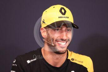 World © Octane Photographic Ltd. Formula 1 – Monaco GP. FIA Drivers Press Conference. Renault Sport F1 Team RS19 – Daniel Ricciardo. Monte-Carlo, Monaco. Wednesday 22nd May 2019.