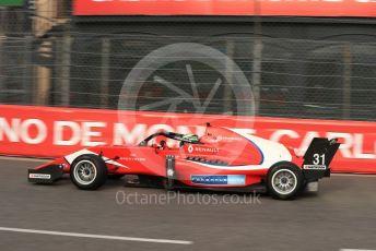 World © Octane Photographic Ltd. Formula Renault Eurocup – Monaco GP - Practice. Arden - Patrik Pasma. Monte-Carlo, Monaco. Thursday 23rd May 2019.