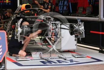 World © Octane Photographic Ltd. Formula 1 – Monaco GP. Setup. Aston Martin Red Bull Racing RB15 – Max Verstappen. Monte-Carlo, Monaco. Wednesday 22nd May 2019.