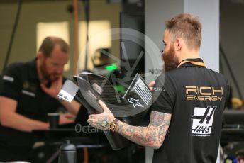 World © Octane Photographic Ltd. Formula 1 – Monaco GP. Setup. Rich Energy Haas F1 Team VF19. Monte-Carlo, Monaco. Wednesday 22nd May 2019.