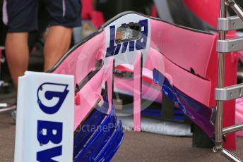 World © Octane Photographic Ltd. Formula 1 – Monaco GP. Setup. SportPesa Racing Point RP19. Monte-Carlo, Monaco. Wednesday 22nd May 2019.