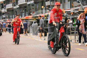 World © Octane Photographic Ltd. Formula 1 – Monaco GP. Track Walk. Scuderia Ferrari SF90 – Charles Leclerc. Monte-Carlo, Monaco. Wednesday 22nd May 2019.