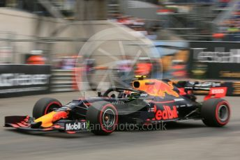 World © Octane Photographic Ltd. Formula 1 – Monaco GP. Practice 1. Aston Martin Red Bull Racing RB15 – Pierre Gasly. Monte-Carlo, Monaco. Thursday 23rd May 2019.