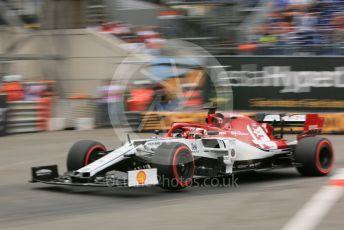 World © Octane Photographic Ltd. Formula 1 – Monaco GP. Practice 1. Alfa Romeo Racing C38 – Kimi Raikkonen. Monte-Carlo, Monaco. Thursday 23rd May 2019.