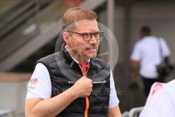 World © Octane Photographic Ltd. Formula 1 - Monaco GP. Practice 1. Andreas Seidl, Team Principle at McLaren. Monte-Carlo, Monaco. Thursday 23rd May 2019.
