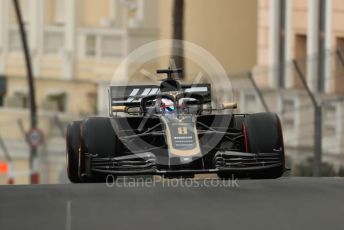 World © Octane Photographic Ltd. Formula 1 – Monaco GP. Practice 1. Rich Energy Haas F1 Team VF19 – Romain Grosjean. Monte-Carlo, Monaco. Thursday 23rd May 2019.