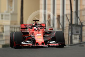 World © Octane Photographic Ltd. Formula 1 – Monaco GP. Practice 1. Scuderia Ferrari SF90 – Sebastian Vettel. Monte-Carlo, Monaco. Thursday 23rd May 2019.