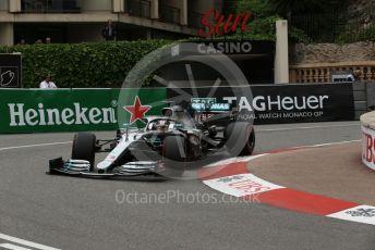 World © Octane Photographic Ltd. Formula 1 – Monaco GP. Practice 1. Mercedes AMG Petronas Motorsport AMG F1 W10 EQ Power+ - Lewis Hamilton. Monte-Carlo, Monaco. Thursday 23rd May 2019.