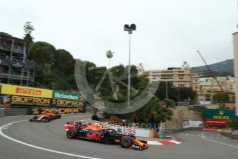 World © Octane Photographic Ltd. Formula 1 – Monaco GP. Practice 1. Aston Martin Red Bull Racing RB15 – Pierre Gasly and McLaren MCL34 – Lando Norris. Monte-Carlo, Monaco. Thursday 23rd May 2019.