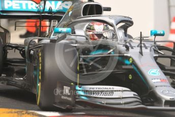 World © Octane Photographic Ltd. Formula 1 – Monaco GP. Practice 2. Mercedes AMG Petronas Motorsport AMG F1 W10 EQ Power+ - Lewis Hamilton. Monte-Carlo, Monaco. Thursday 23rd May 2019.