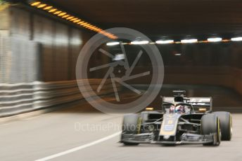 World © Octane Photographic Ltd. Formula 1 – Monaco GP. Practice 2. Rich Energy Haas F1 Team VF19 – Romain Grosjean. Monte-Carlo, Monaco. Thursday 23rd May 2019.