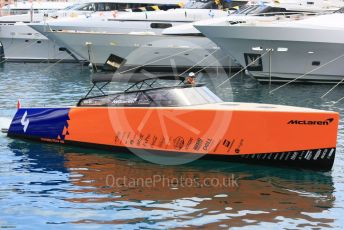 World © Octane Photographic Ltd. Formula 1 – Monaco GP. Practice 2. McLaren boat. Monte-Carlo, Monaco. Thursday 23rd May 2019.