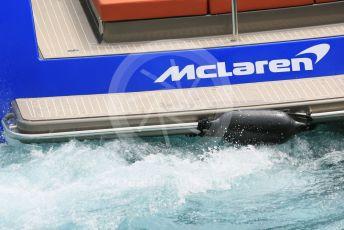 World © Octane Photographic Ltd. Formula 1 – Monaco GP. Practice 2. McLaren boat. Monte-Carlo, Monaco. Thursday 23rd May 2019.