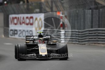 World © Octane Photographic Ltd. Formula 1 – Monaco GP. Practice 2. Rich Energy Haas F1 Team VF19 – Kevin Magnussen. Monte-Carlo, Monaco. Thursday 23rd May 2019.
