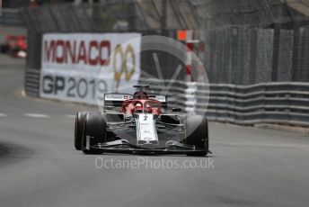 World © Octane Photographic Ltd. Formula 1 – Monaco GP. Practice 2. Alfa Romeo Racing C38 – Kimi Raikkonen. Monte-Carlo, Monaco. Thursday 23rd May 2019.