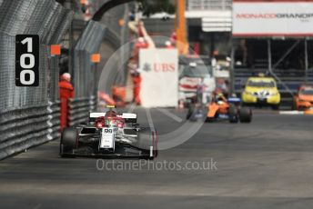 World © Octane Photographic Ltd. Formula 1 – Monaco GP. Practice 2. Alfa Romeo Racing C38 – Antonio Giovinazzi. Monte-Carlo, Monaco. Thursday 23rd May 2019.