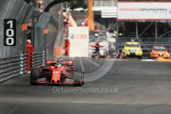 World © Octane Photographic Ltd. Formula 1 – Monaco GP. Practice 2. Scuderia Ferrari SF90 – Charles Leclerc. Monte-Carlo, Monaco. Thursday 23rd May 2019.
