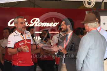 World © Octane Photographic Ltd. Formula 1 – Monaco GP. Practice 3. VIPs in the Alfa garage. Monte-Carlo, Monaco. Saturday 25th May 2019.