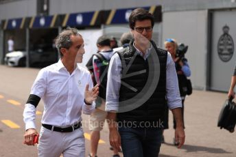 World © Octane Photographic Ltd. Formula 1 - Monaco GP. Practice 3. Alain Prost – Special Advisor to Renault Sport Formula 1 Team. Monte-Carlo, Monaco. Saturday 25th May 2019.