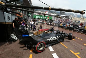 World © Octane Photographic Ltd. Formula 1 – Monaco GP. Practice 3. Rich Energy Haas F1 Team VF19 – Romain Grosjean. Monte-Carlo, Monaco. Saturday 25th May 2019.
