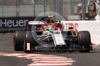 World © Octane Photographic Ltd. Formula 1 – Monaco GP. Qualifying. Alfa Romeo Racing C38 – Antonio Giovinazzi. Monte-Carlo, Monaco. Saturday 25th May 2019.