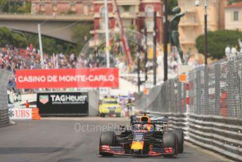 World © Octane Photographic Ltd. Formula 1 – Monaco GP. Qualifying. Aston Martin Red Bull Racing RB15 – Max Verstappen. Monte-Carlo, Monaco. Saturday 25th May 2019.