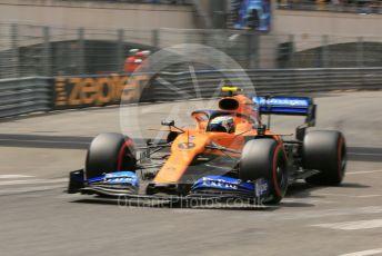 World © Octane Photographic Ltd. Formula 1 – Monaco GP. Qualifying. McLaren MCL34 – Lando Norris. Monte-Carlo, Monaco. Saturday 25th May 2019.