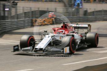 World © Octane Photographic Ltd. Formula 1 – Monaco GP. Qualifying. Alfa Romeo Racing C38 – Kimi Raikkonen. Monte-Carlo, Monaco. Saturday 25th May 2019.