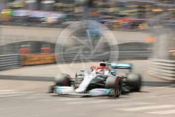 World © Octane Photographic Ltd. Formula 1 – Monaco GP. Qualifying. Mercedes AMG Petronas Motorsport AMG F1 W10 EQ Power+ - Lewis Hamilton. Monte-Carlo, Monaco. Saturday 25th May 2019.