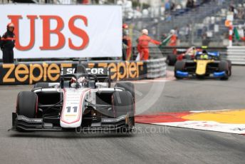 World © Octane Photographic Ltd. FIA Formula 2 (F2) – Monaco GP - Race 1. Sauber Junior Team - Callum Ilott and Virtuosi Racing - Luca Ghiotto. Monte-Carlo, Monaco. Friday 24th May 2019.
