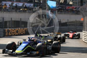 World © Octane Photographic Ltd. FIA Formula 2 (F2) – Monaco GP - Race 2. Carlin - Louis Deletraz. Monte-Carlo, Monaco. Saturday 25th May 2019