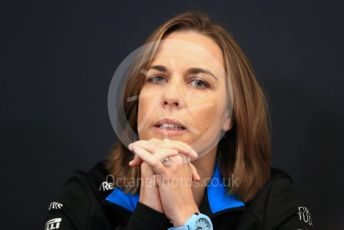 World © Octane Photographic Ltd. Formula 1 - Monaco GP. Thursday FIA Team Press Conference. Claire Williams - Deputy Team Principal of ROKiT Williams Racing. Monte-Carlo, Monaco. Thursday 23rd May 2019.