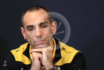 World © Octane Photographic Ltd. Formula 1 - Monaco GP. Thursday FIA Team Press Conference. Cyril Abiteboul - Managing Director of Renault Sport Racing Formula 1 Team. Monte-Carlo, Monaco. Thursday 23rd May 2019.
