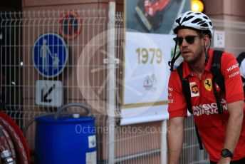 World © Octane Photographic Ltd. Formula 1 – Monaco GP. Paddock. Scuderia Ferrari SF90 – Sebastian Vettel. Monte-Carlo, Monaco. Thursday 23rd May 2019.