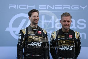 World © Octane Photographic Ltd. Formula 1 – Winter Testing - Test 1 - Day 1. Rich Energy Haas F1 Team VF19 launch – Romain Grosjean and Kevin Magnussen. Circuit de Barcelona-Catalunya. Monday 18th February 2019.