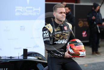 World © Octane Photographic Ltd. Formula 1 – Winter Testing - Test 1 - Day 1. Rich Energy Haas F1 Team VF19 launch – Kevin Magnussen. Circuit de Barcelona-Catalunya. Monday 18th February 2019.