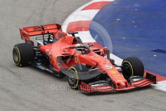World © Octane Photographic Ltd. Formula 1 – Singapore GP - Practice 1. Scuderia Ferrari SF90 – Sebastian Vettel. Marina Bay Street Circuit, Singapore. Friday 20th September 2019.