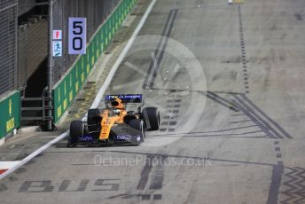 World © Octane Photographic Ltd. Formula 1 – Singapore GP - Practice 2. McLaren MCL34 – Lando Norris. Marina Bay Street Circuit, Singapore. Friday 20th September 2019.