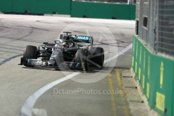 World © Octane Photographic Ltd. Formula 1 – Singapore GP - Practice 2. Mercedes AMG Petronas Motorsport AMG F1 W10 EQ Power+ - Lewis Hamilton. Marina Bay Street Circuit, Singapore. Friday 20th September 2019.