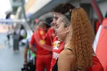 World © Octane Photographic Ltd. Formula 1 – Singapore GP - Practice 3. Scuderia Ferrari SF90 – Charles Leclerc and Ella Eyre. Marina Bay Street Circuit, Singapore. Saturday 21st September 2019.