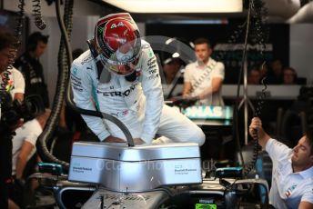 World © Octane Photographic Ltd. Formula 1 – Singapore GP - Practice 3. Mercedes AMG Petronas Motorsport AMG F1 W10 EQ Power+ - Lewis Hamilton. Marina Bay Street Circuit, Singapore. Saturday 21st September 2019.