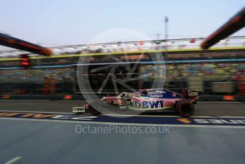 World © Octane Photographic Ltd. Formula 1 – Singapore GP - Practice 3. SportPesa Racing Point RP19 - Sergio Perez. Marina Bay Street Circuit, Singapore. Saturday 21st September 2019.